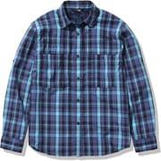 シーカーズチェックシャツ Seekers' Check Shirt NRW12102 マウイブルー×ネイビー(MU) Lサイズ [アウトドア シャツ レディース]