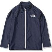 ロングスリーブサンシェードフルジップジャケット L/S Sunshade Full Zip Jacket NTJ12161 (NY)TNFネイビー 150サイズ [アウトドア トップス キッズ]