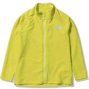 ロングスリーブサンシェードフルジップジャケット L/S Sunshade Full Zip Jacket NTJ12161 (SS)サルファースプリンググリーン 150サイズ [アウトドア トップス キッズ]