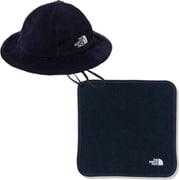 ベビーリバーシブルハット&ハンドタオルセット Baby Reversible Hat & Hand Towel Set NNB02010 アーバンネイビー2(UU) [アウトドア 小物 キッズ]