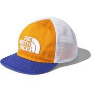 ベビートラッカーメッシュキャップ Baby Trucker Mesh Cap NNB02100 ノックアウトオレンジ×ボルトブルー(KB) [アウトドア 帽子 キッズ]