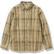ロングスリーブ バハダネイチャーシャツ L/S Bajada Nature Shirt  NRW11957 ブラウン(BE) Lサイズ [アウトドア シャツ レディース]