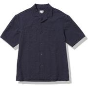ショートスリーブシアサッカーベントメッシュシャツ S/S Seersucker Vent Mesh Shirt NR22160 (AN)アビエイターネイビー Lサイズ [アウトドア カットソー メンズ]