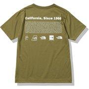 ショートスリーブヒストリカルロゴティー S/S Historical Logo Tee NT32159 ミリタリーオリーブ(MO) Lサイズ [アウトドア カットソー メンズ]