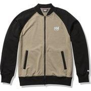 HHロゴスウェットトラックジャケット HH Logo Sweat Track Jacket HE32124 ウェットサンド×ブラック(WK) Lサイズ [アウトドア スウェット メンズ]