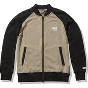 HHロゴスウェットトラックジャケット HH Logo Sweat Track Jacket HE32124 ウェットサンド×ブラック(WK) WMサイズ [アウトドア スウェット レディース]