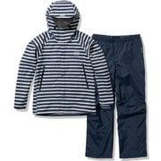 ボーダーヘリーレインスーツ Border Helly Rain Suit HOE12101 ヘリーブルー(HB) WLサイズ [アウトドア レインジャケット レディース]