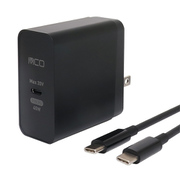 IPA-CS01/BK [PD対応45W USB-ACアダプタ TypeCケーブル付 黒]