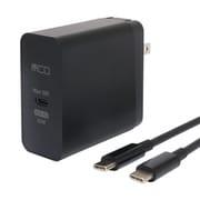 IPA-CS02/BK [PD対応65W USB-ACアダプタ TypeCケーブル付 黒]