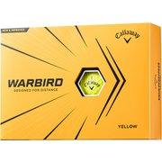 ゴルフボール WARBIRD(ウォーバード) 2ピース イエロー 2021年モデル [1ダース 12球入]