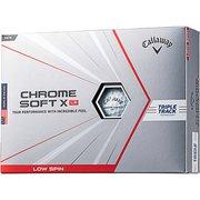 ゴルフボール CHROME SOFT X(クロームソフトエックス)LS(ロースピン) 4ピース ホワイト 2021年モデル [1ダース12球入]