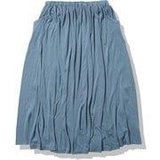 U クールライト ロングスカート W COOL-LITE LONG SKIRT IBW12175 グラナイトブルー(GR) Sサイズ [アウトドア スカート レディース]