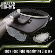 GSWD-2385 LEDライト付ヘッドルーペセット [プラモデル用品]