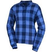 ワシ プラス シャツ ロング スリーブ WASHI+ SHIRT LS W MIV01876 MEDIUM BLUE 4813 Lサイズ(日本:XLサイズ) [アウトドア シャツ レディース]