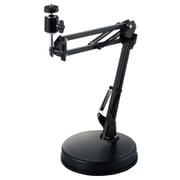 UCAM-DSZARMBK [WEBカメラスタンド 高さ・角度調整 GoPro用アダプタ付 フレキシブルアームタイプ ブラック]