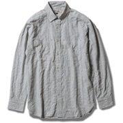 TSサッカーギンガムシャツ 5212193 (021)ライトグレー Mサイズ [アウトドア シャツ メンズ]