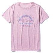 CシールドレインボーティーS/S 8215102 (098)ピンク Lサイズ [アウトドア カットソー レディース]