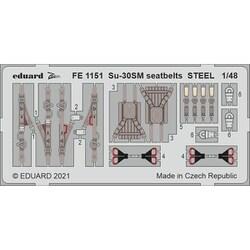 EDUFE1151 1/48 ディティールアップパーツ Su-30SM シートベルト (ステンレス製) (キティーホーク用) [プラモデル用パーツ]