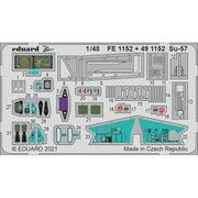 EDUFE1152 1/48 ディティールアップパーツ Su-57 ズームエッチングパーツ (ズべズダ用) [プラモデル用パーツ]