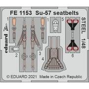 EDUFE1153 1/48 ディティールアップパーツ Su-57 シートベルト (ステンレス製) (ズべズダ用) [プラモデル用パーツ]