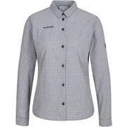 アーダロングスリーブシャツウィメン Aada Longsleeve Shirt Women 1015-00581 0047 black-white Mサイズ [アウトドア シャツ レディース]