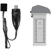 HS175dc [マルチコプター・ドローン用スペアパーツ ドローン用バッテリーforHS175/バッテリー1個(Lipo 7.6V/1300mAh)USB充電器付き]