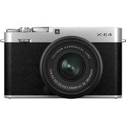 FUJIFILM X-E4 レンズキット シルバー [ボディ+交換レンズ「XC15-45mmF3.5-5.6 OIS PZ ブラック」]