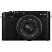 FUJIFILM X-E4 レンズキット ブラック [ボディ+交換レンズ「XC15-45mmF3.5-5.6 OIS PZ ブラック」]