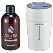 8100-03WH [電解水プラス超音波ミスト噴霧器セット AQUA・D-A 消臭・除菌・抗ウイルス 有効塩素濃度200ppm以上 USB給電&充電式]