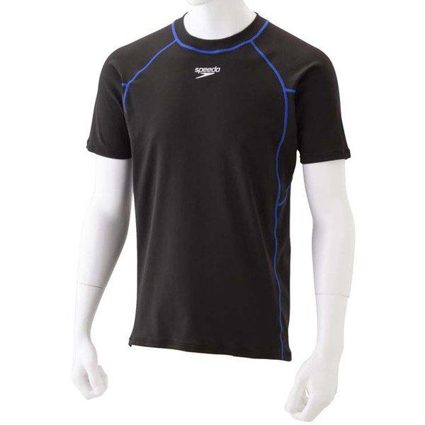 スイム ハーフスリーブトップ Swim H/S Top SF72061 ブラック×ブルー(KB) Lサイズ [ラッシュガード メンズ]