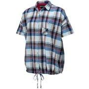 W's CL Plaid H/S Wide Shirt ウィメンズシーエルプラッドハーフスリーブワイドシャツ TOWRJA74 BL Mサイズ [アウトドア カットソー レディース]