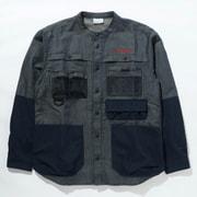ツキャノンアイルロングスリーブシャツ Tucannon Isle Long Sleeve Shirt PM0058 425 Columbia Navy Lサイズ [アウトドア シャツ メンズ]