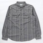 シルバーリッジ2.0プラッドロングスリーブシャツ Silver Ridge 2.3 Plaid L/S Shirt AE0649 City Grey Grid Lines 025 XLサイズ [アウトドア シャツ メンズ]