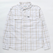 シルバーリッジ2.0プラッドロングスリーブシャツ Silver Ridge 2.5 Plaid L/S Shirt AE0649 White Grid Lines 101 Mサイズ [アウトドア シャツ メンズ]