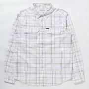 シルバーリッジ2.0プラッドロングスリーブシャツ Silver Ridge 2.4 Plaid L/S Shirt AE0649 White Grid Lines 101 Lサイズ [アウトドア シャツ メンズ]