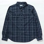 シルバーリッジ2.0プラッドロングスリーブシャツ Silver Ridge 2.11 Plaid L/S Shirt AE0649 Collegiate Navy Grid Lines 467 XLサイズ [アウトドア シャツ メンズ]