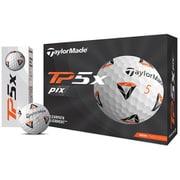 ゴルフボール TP5x pix(ティーピー 5 ピックス) 5ピース ホワイト N7606401 2021年モデル [1ダース 12球入]