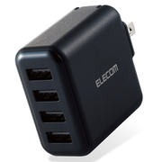 MPA-ACU13BK [AC充電器 スマホ・タブレット用 4.8A出力 USB-Aメス4ポート おまかせ充電搭載 ブラック]