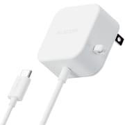 MPA-ACC20WH [AC充電器 スマホ・タブレット用 2.4A出力 Type-C USB-C ケーブル一体型 1.5m ホワイト]