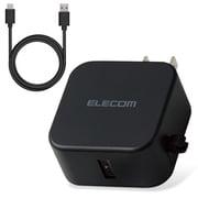 MPA-ACC23BK [AC充電器 スマホ・タブレット用 2.4A出力 Type-C USB-C ケーブル同梱 1.5m USB-Aメス1ポート おまかせ充電搭載 ブラック]