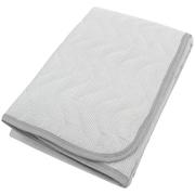 SP111035-05 [シャリっと爽やかな肌ざわりの綿しじら敷パッド シングルサイズ (約100×205cm) グレイ]