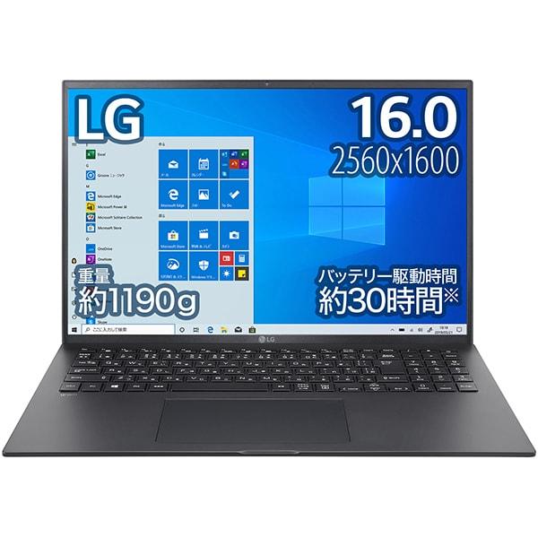 16Z90P-KA78J [LG gram 16.0インチノートパソコン/第11世代インテル Core i7/メモリ 16GB/SSD 1TB/Windows 10 Home (64bit)/オブシディアンブラック]