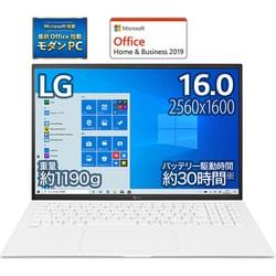 16Z90P-KA54J1 [LG gram 16.0インチノートパソコン/第11世代インテル Core i5/メモリ 8GB/SSD 512GB/Windows 10 Home (64bit)/Microsoft Office Home & Business 2019/スノーホワイト]