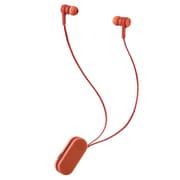 LBT-HPC17RD [ワイヤレスイヤホン Bluetooth5.0 両耳 コードあり 巻き取り式 クリップ付 フロストレッド コンパクト]