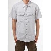 キャニオンショートスリーブシャツ Canyon Solid Short Sleeve Shirt OE7044 055 Light Dunes Mサイズ [アウトドア シャツ メンズ]