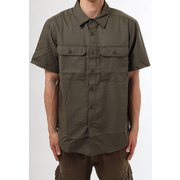 キャニオンショートスリーブシャツ Canyon Solid Short Sleeve Shirt OE7044 253 Raw Clay Sサイズ [アウトドア シャツ メンズ]