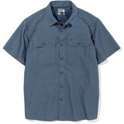 キャニオンショートスリーブシャツ Canyon Solid Short Sleeve Shirt OE7044 445 Northern Blue Mサイズ [アウトドア シャツ メンズ]