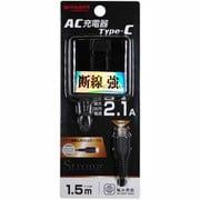 YDC-ACCST21MK [ヨドバシカメラオリジナル AC充電器 ストロングケーブルタイプ Type-C端子 2.1A ブラック]