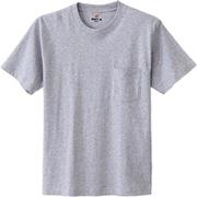 H5190-060-M [HANES(ヘインズ) ビーフィーポケットTシャツ ヘザーグレー Mサイズ]