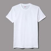 HM2115G-010-S [HANES(ヘインズ) メンズ クールネック Tシャツ 3P 青ラベル ホワイト Sサイズ]